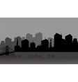 Gray silhouette city vector image vector image