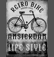 hand drawn bicycle in amsterdam european street vector image
