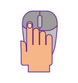 hand human with computer mouse vector image