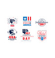 happy independence day labels collection united vector image vector image