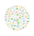 healthy lifestyle icon in circle vector image