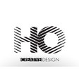 ho h o lines letter design with creative elegant vector image