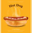 hot dog realistic detailed 3d vector image vector image