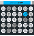 inline seo icons collection vector image