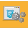 internet security home page finger print vector image