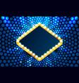 light frame label circle bar casino show vector image