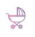 line baby stroller tool to baby relax vector image vector image