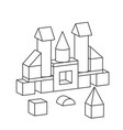 line style toy building tower vector image vector image