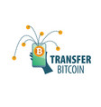 logo bitcoin money transfer vector image vector image