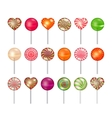 lollipops set vector image