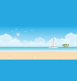 luxury sailing ship yacht in blue sea vector image vector image