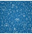 Medicine doodle seamless background