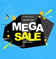 mega sale banner poster vector image