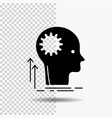 mind creative thinking idea brainstorming glyph vector image vector image