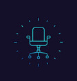 office chair linear icon vector image
