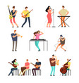 people performing music musicians with musical vector image vector image