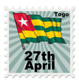 post stamp of national day of Togo vector image vector image