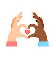 Red heart shape hand sign concept