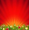 Red Xmas Sunburst Border vector image vector image