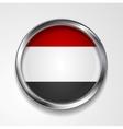 Republic of Yemen metal button flag