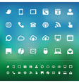 Retina communication icon set vector image