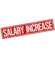 Salary increase square grunge stamp