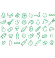 seamless pattern supermarket grosery store food vector image vector image