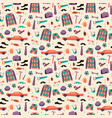 seamless pattern with mans things happy vector image vector image