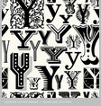 seamless vintage pattern letter Y vector image vector image