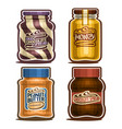 set isolated jars vector image vector image