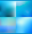 set of abstract colorful blue blurred backgrounds vector image vector image
