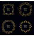 Set of four golden frame in outline style vector image vector image