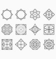 set of symmetric geometric shapes vector image