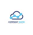 stats cloud logo icon design vector image