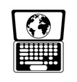 summer travel and vacation online laptop world in vector image