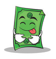 tongue out face dollar character cartoon style vector image vector image