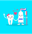 tooth and toothpaste vector image