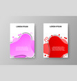 trendy soft brochures covers vector image
