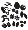 various nuts types black icons set eps10 vector image vector image