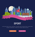 website banner and landing page sport vector image vector image