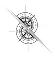 windrose two halves outline symbol vector image vector image