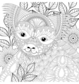 zentangle happy friendly koala for adult anti vector image vector image