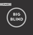 black and white style big blind vector image