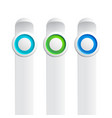 trio of buttons set collection vector image