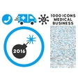 2016 Petard Icon with 1000 Medical Business vector image