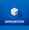 ammunition isometric icon isolated on color vector image vector image