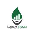 arrow leaf logo design logo icon for business fin vector image vector image
