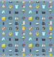 art icons seamless pattern background atist ink vector image vector image