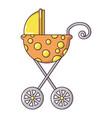 baby carriage elegant icon cartoon style vector image vector image