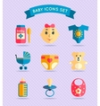 Baby child icons set vector image vector image